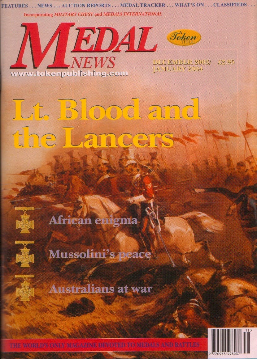 Front cover of 'We will Remember', Medal News December 2003, Volume 42, Number 1 by Token Publishing