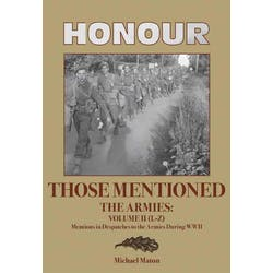 Honour Those Mentioned - The Armies Volume II (L-Z) in the Token Publishing Shop