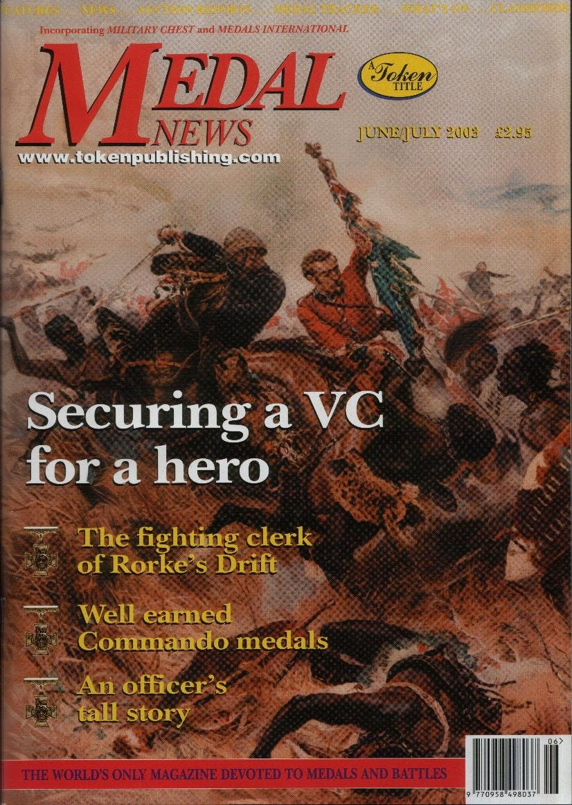 Front cover of 'They also served', Medal News June 2003, Volume 41, Number 6 by Token Publishing