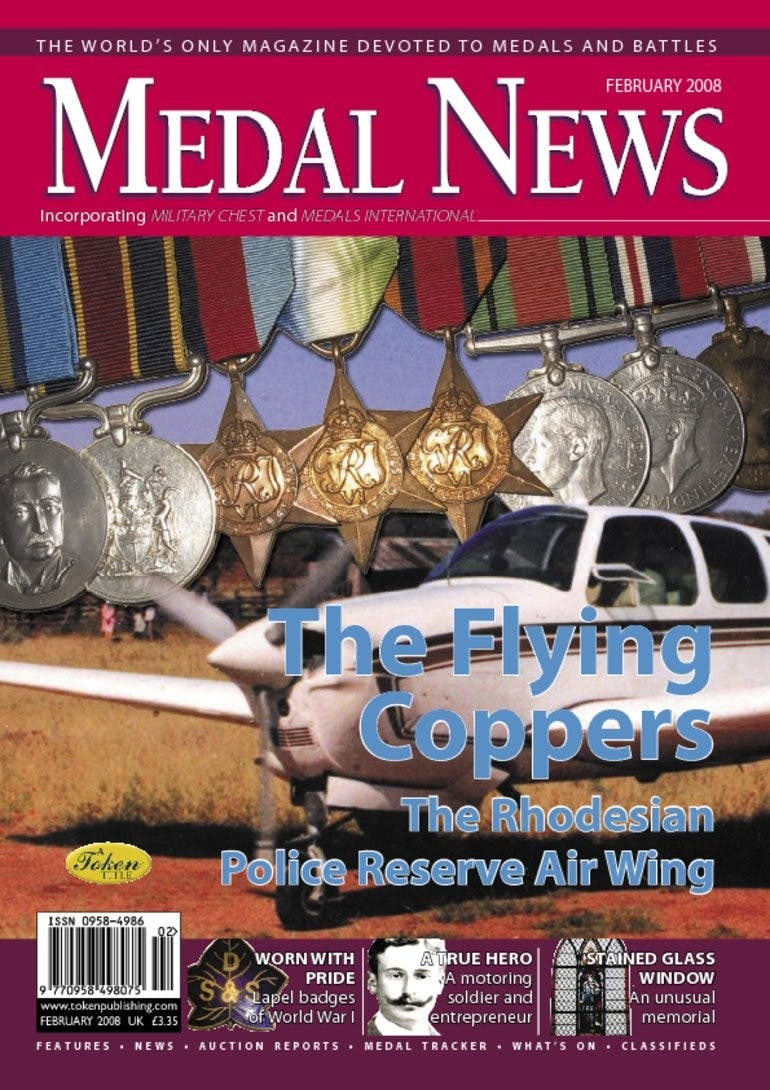 Front cover of 'The Flying Coppers', Medal News February 2008, Volume 46, Number 2 by Token Publishing