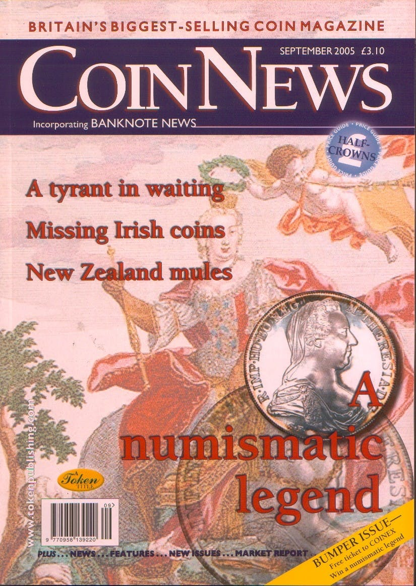 Front cover of 'Here forever', Coin News September 2005, Volume 42, Number 9 by Token Publishing