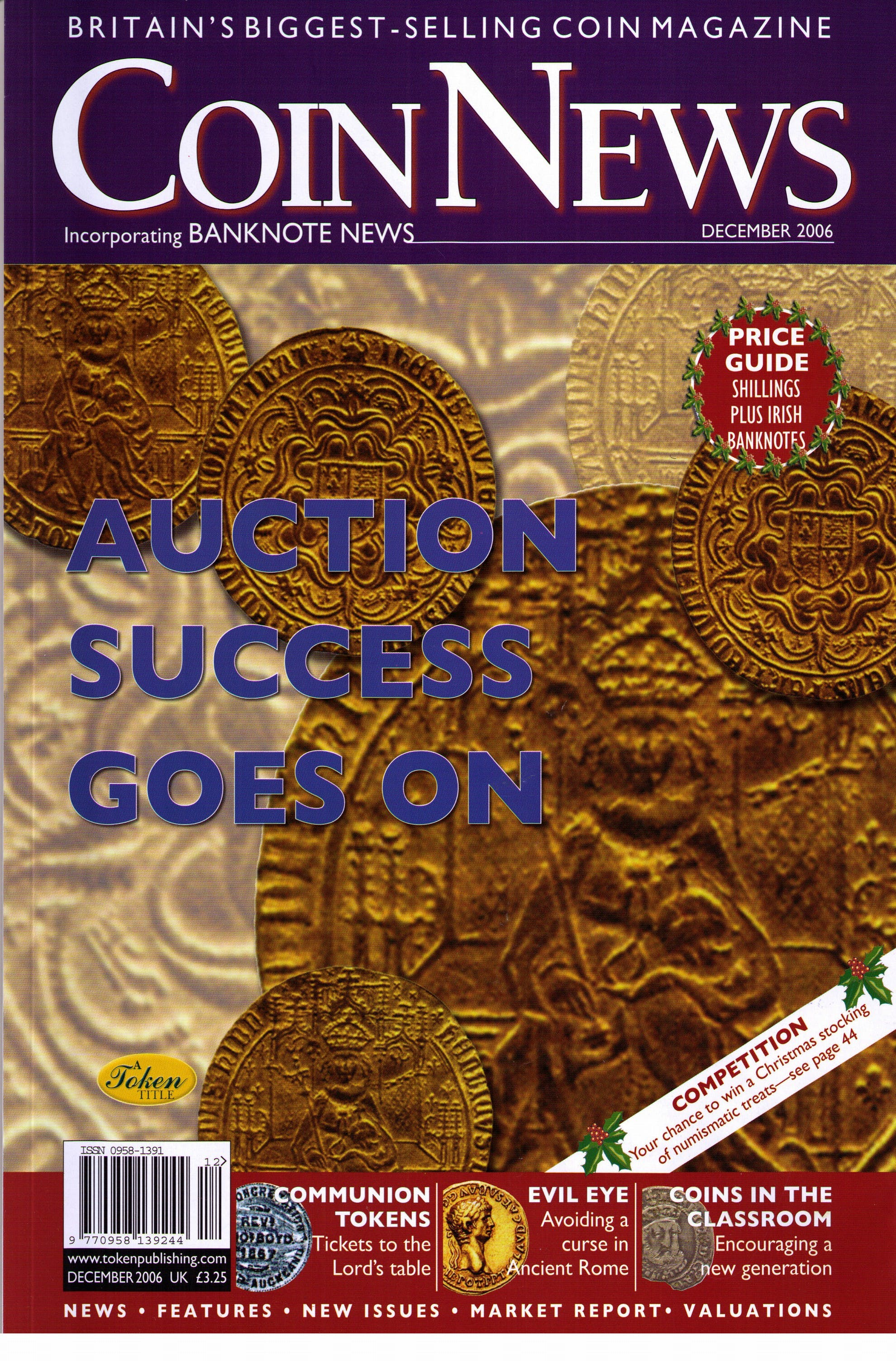 Front cover of 'Ignorance isn't bliss', Coin News December 2006, Volume 43, Number 12 by Token Publishing