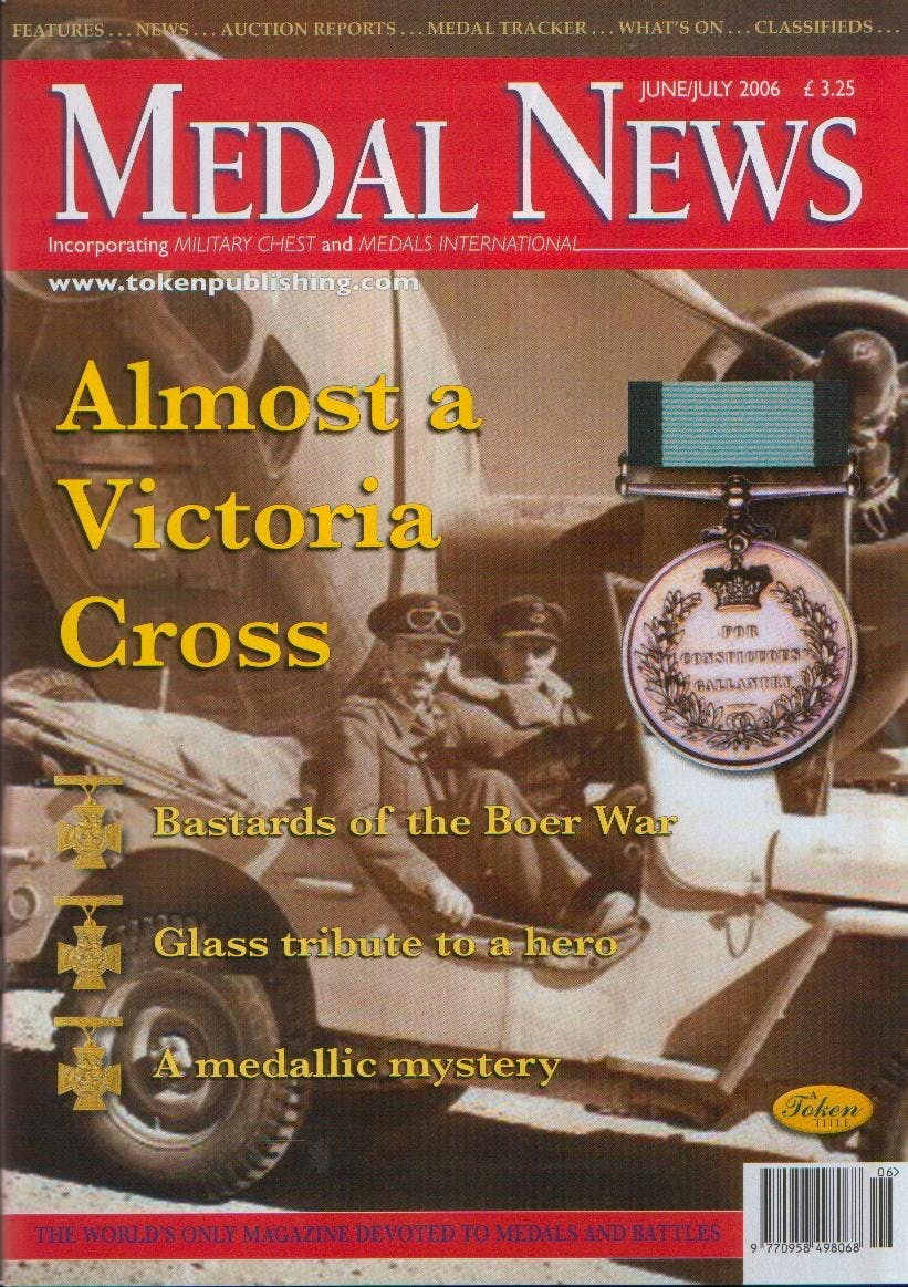 Front cover of 'Something to think about', Medal News June 2006, Volume 44, Number 6 by Token Publishing
