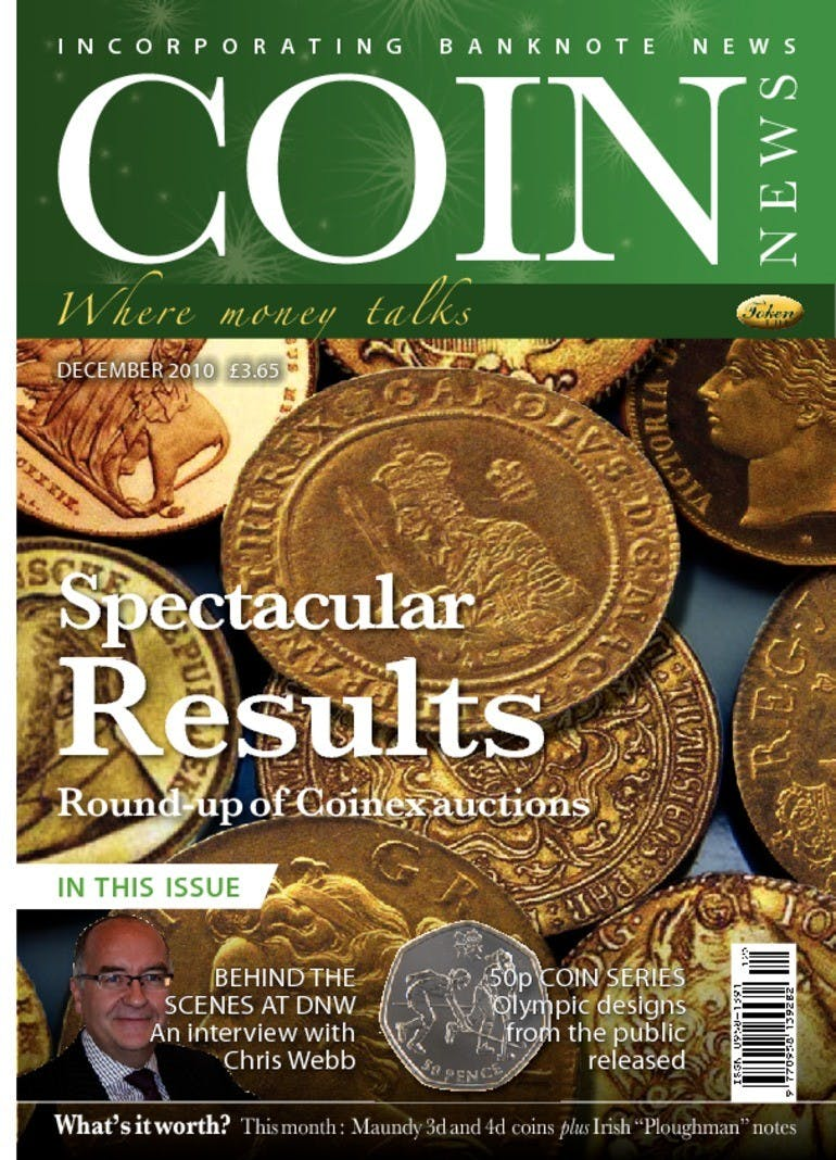 Front cover of 'Spectacular results', Coin News December 2010, Volume 47, Number 12 by Token Publishing