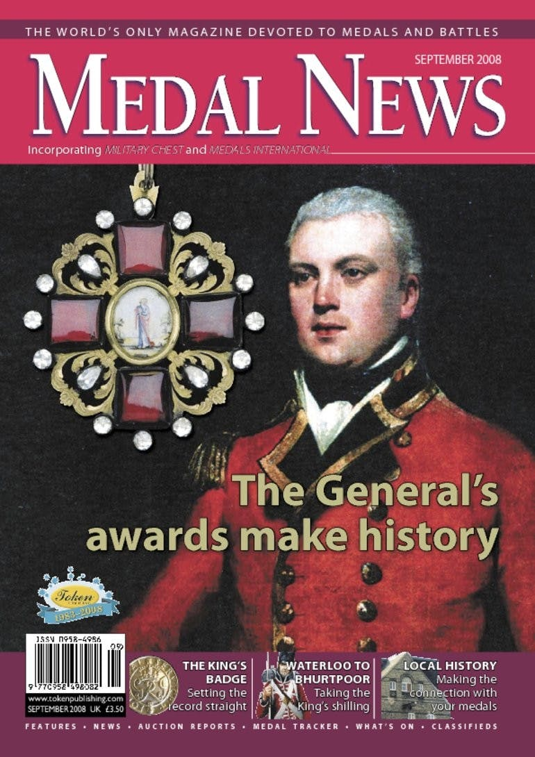 Front cover of 'The General awards make history', Medal News September 2008, Volume 46, Number 8 by Token Publishing