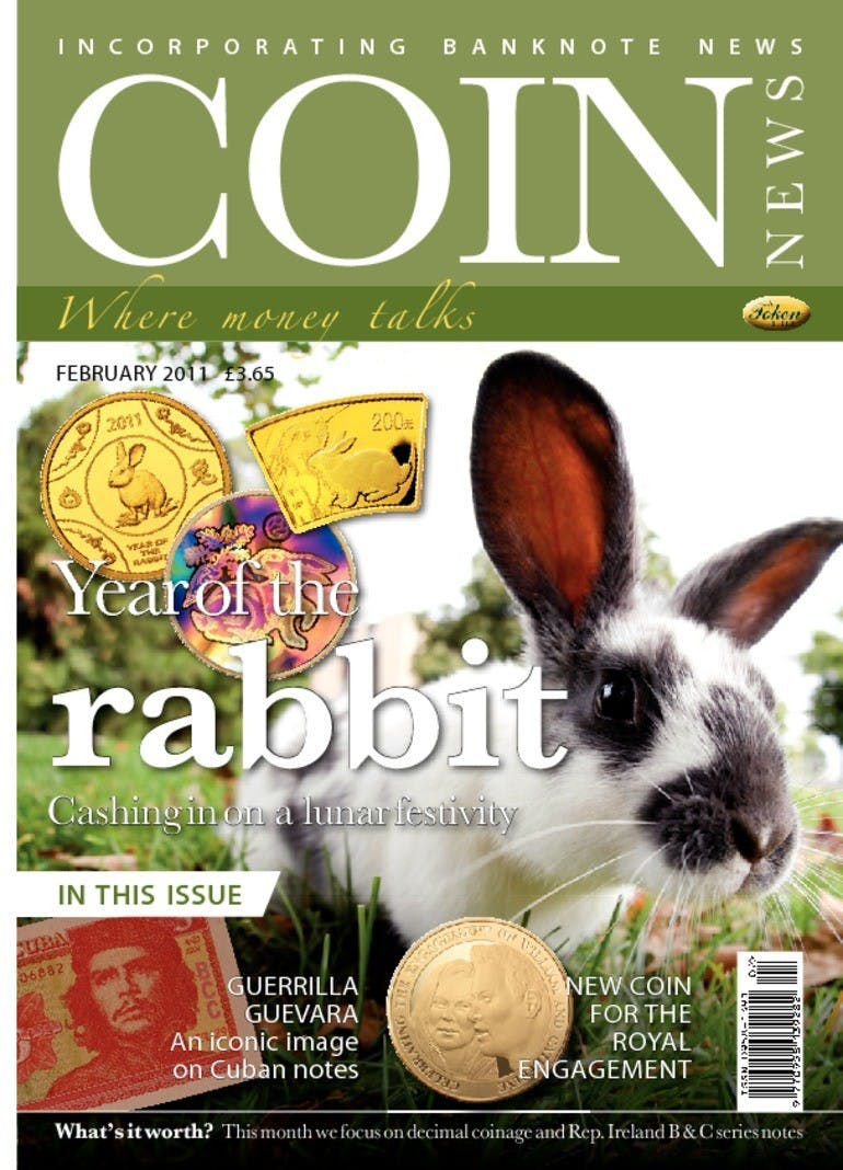 Front cover of 'The year of the Rabbit', Coin News February 2011, Volume 48, Number 2 by Token Publishing