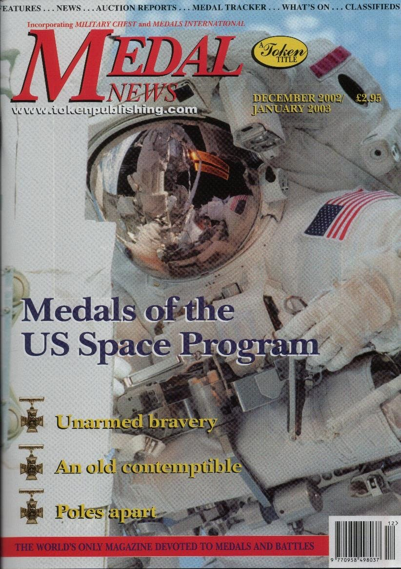 Front cover of 'A corner of a foreign field', Medal News December 2002, Volume 41, Number 1 by Token Publishing