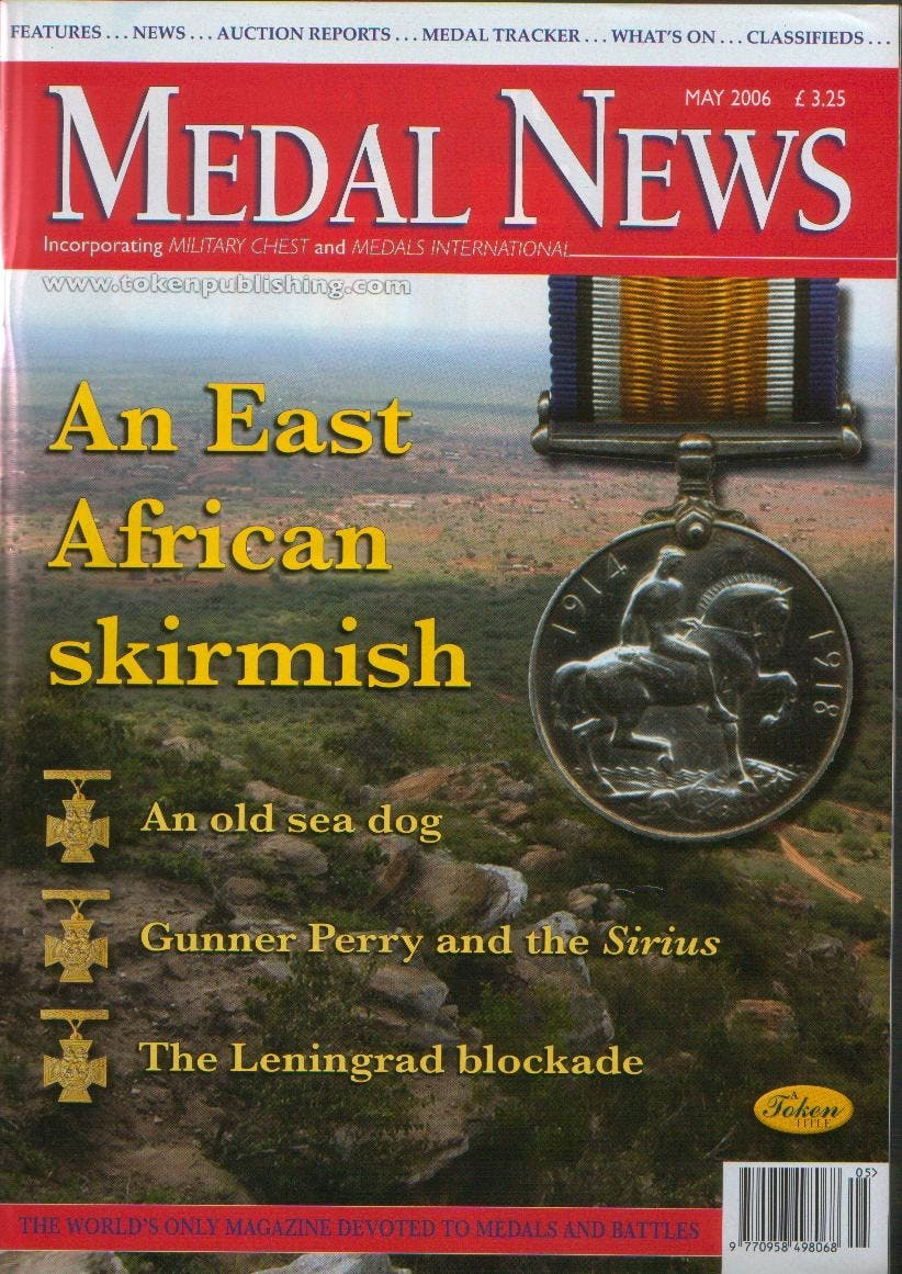 Front cover of 'Let's make a start to stop', Medal News May 2006, Volume 44, Number 5 by Token Publishing