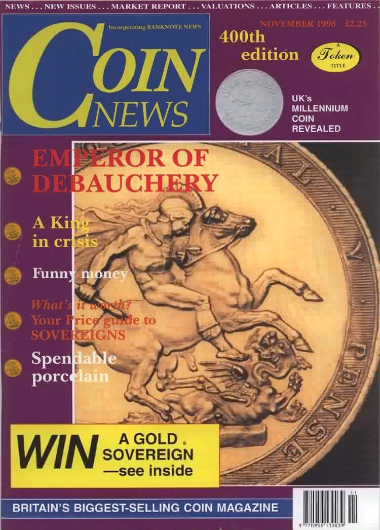 Front cover of 'The Treasury Act in practice', Coin News November 1998, Volume 35, Number 11 by Token Publishing