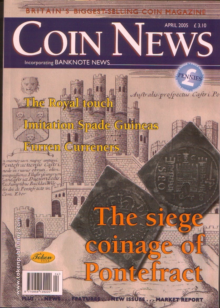 Front cover of 'Pushing forward', Coin News April 2005, Volume 42, Number 4 by Token Publishing