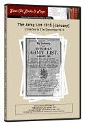 Army List 1915 in the Token Publishing Shop