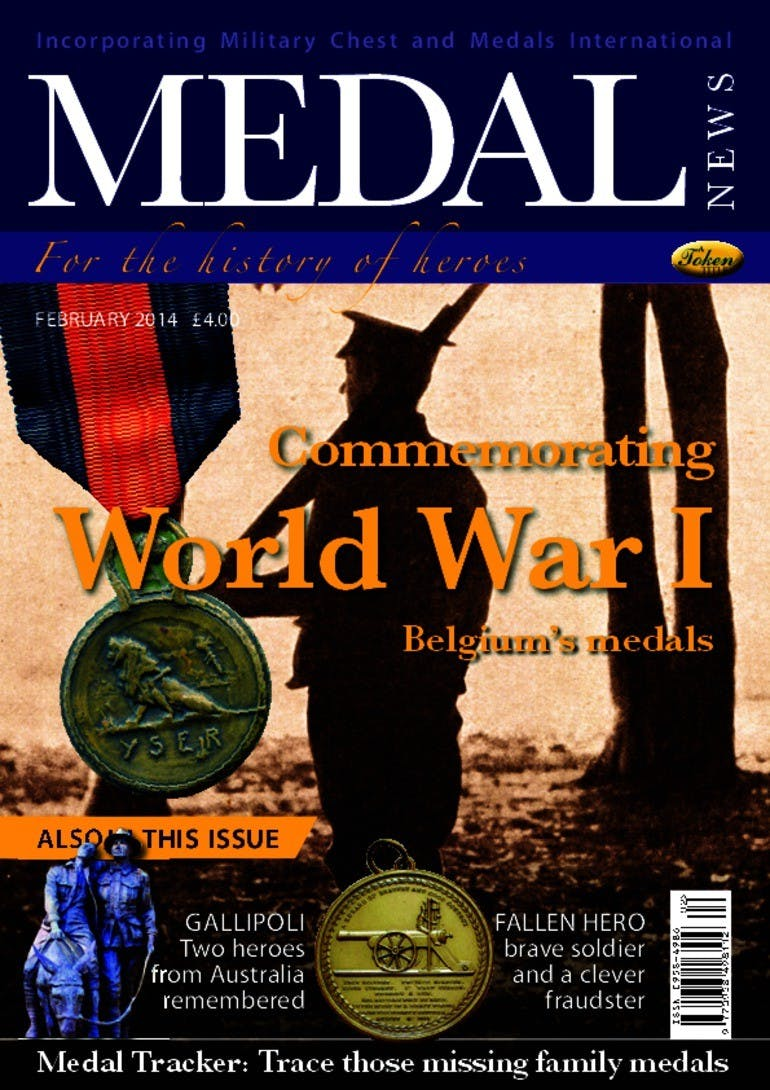Front cover of 'Commemorating World War I', Medal News February 2014, Volume 52, Number 2 by Token Publishing