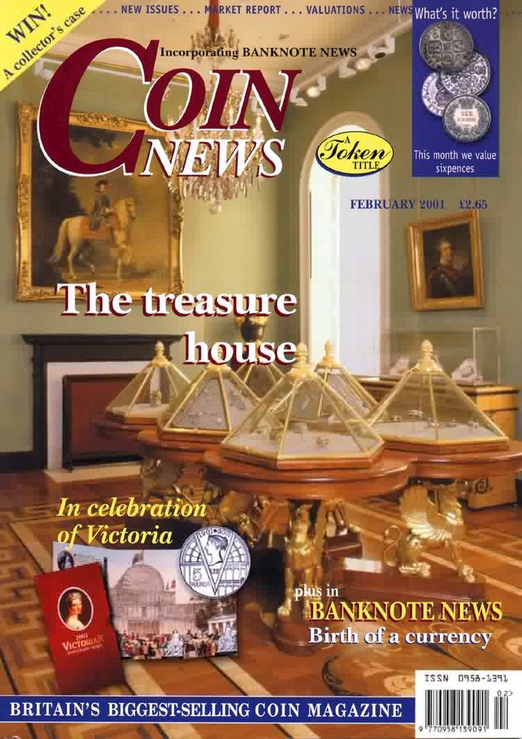 Front cover of 'Looking backwards and beyond', Coin News February 2001, Volume 38, Number 2 by Token Publishing