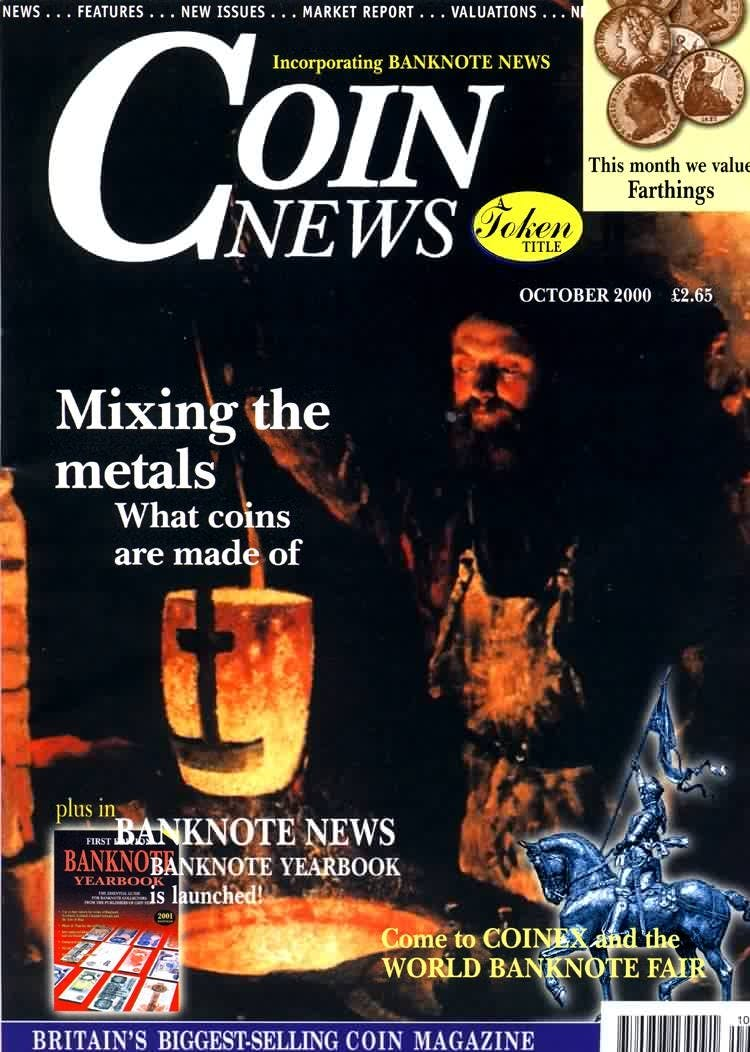 Front cover of 'A mammoth month', Coin News October 2000, Volume 37, Number 10 by Token Publishing