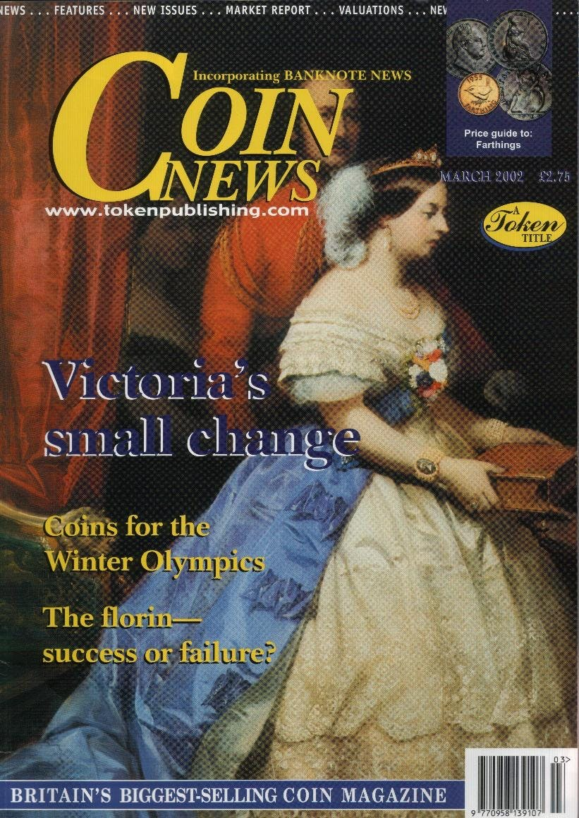 Front cover of 'An undoubted success', Coin News March 2002, Volume 39, Number 3 by Token Publishing