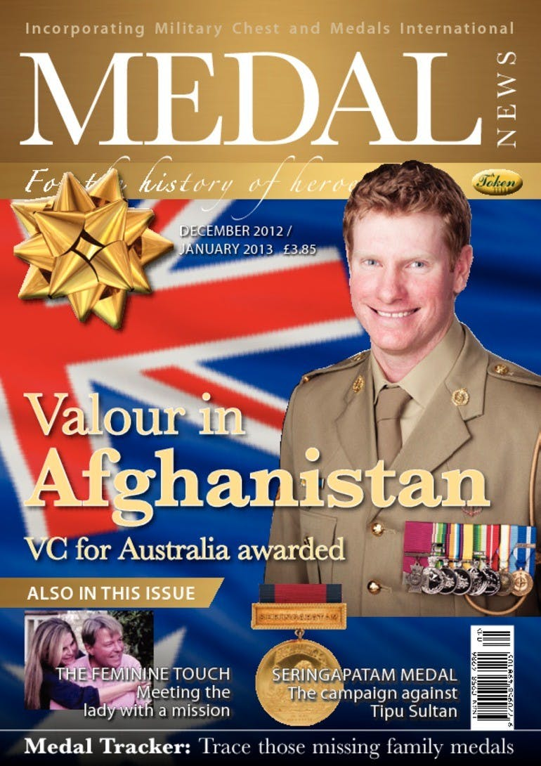 Front cover of 'Valour in Afghanistan', Medal News January 2013, Volume 51, Number 1 by Token Publishing