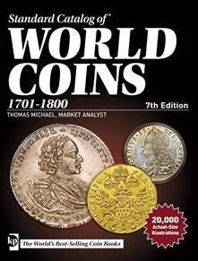 Krause World Coins 1701-1800 7th Edition in the Token Publishing Shop