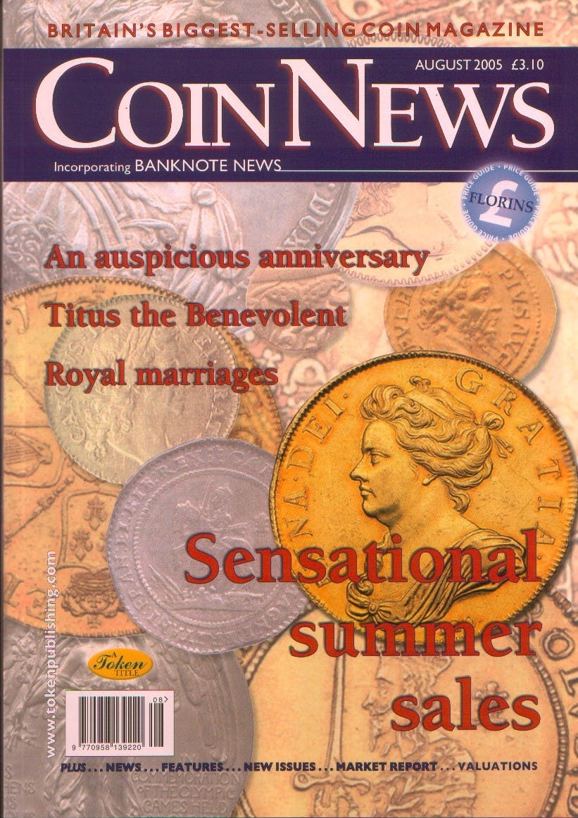 Front cover of 'All we survey', Coin News August 2005, Volume 42, Number 8 by Token Publishing