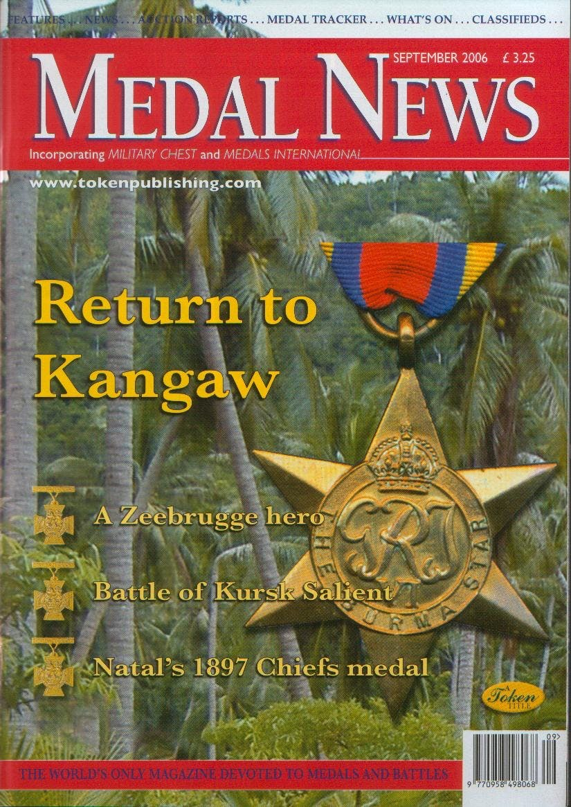 Front cover of 'History re-invented?', Medal News September 2006, Volume 44, Number 8 by Token Publishing
