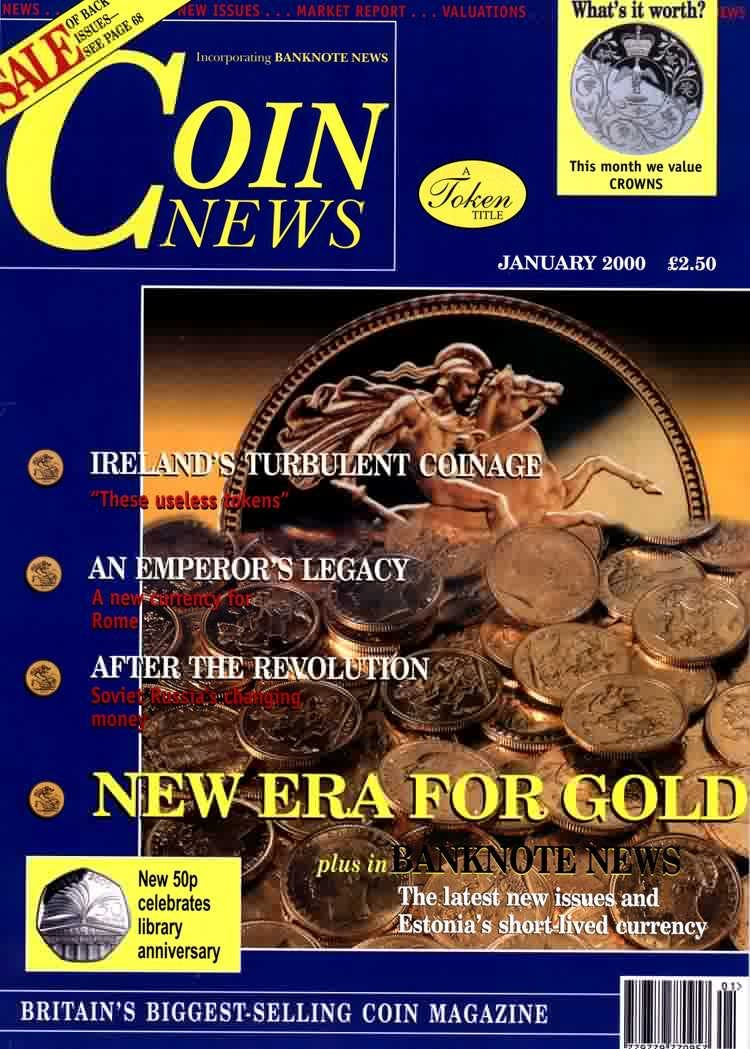 Front cover of 'Good news for investors', Coin News January 2000, Volume 37, Number 1 by Token Publishing
