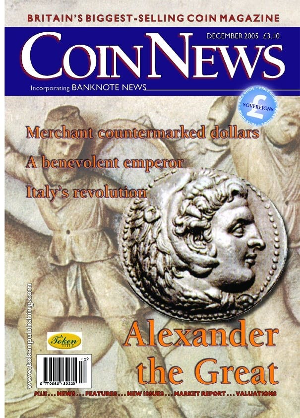 Front cover of 'Interesting times', Coin News December 2005, Volume 42, Number 12 by Token Publishing