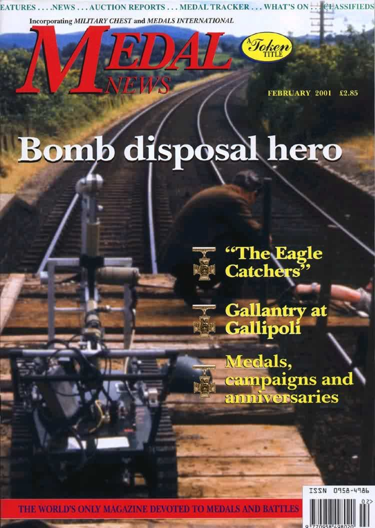 Front cover of 'A rich seam', Medal News February 2001, Volume 39, Number 2 by Token Publishing