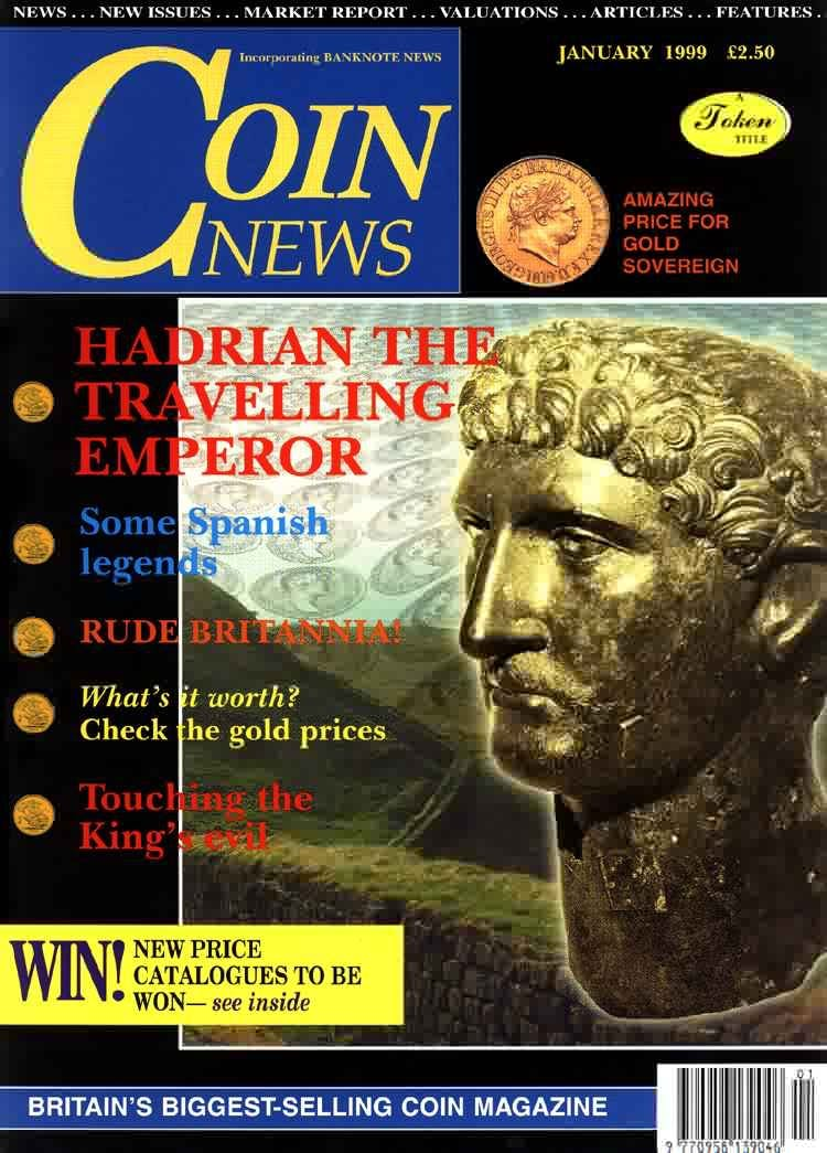 Front cover of 'As the hobby grows and develops so do we...', Coin News January 1999, Volume 36, Number 1 by Token Publishing
