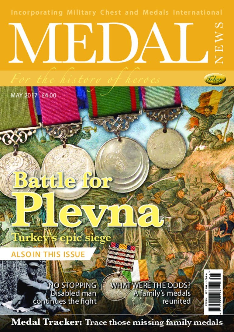 Front cover of 'Battle of Plevna', Medal News May 2017, Volume 55, Number 5 by Token Publishing