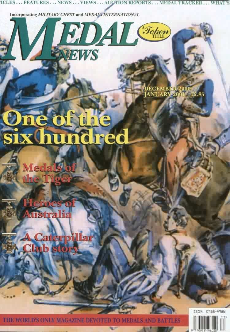 Front cover of 'Rewriting History', Medal News December 2000, Volume 39, Number 1 by Token Publishing