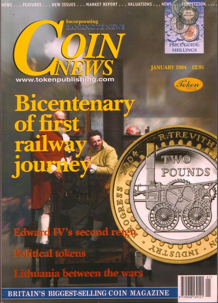 Front cover of 'Copy Date', Coin News January 2004, Volume 41, Number 1 by Token Publishing