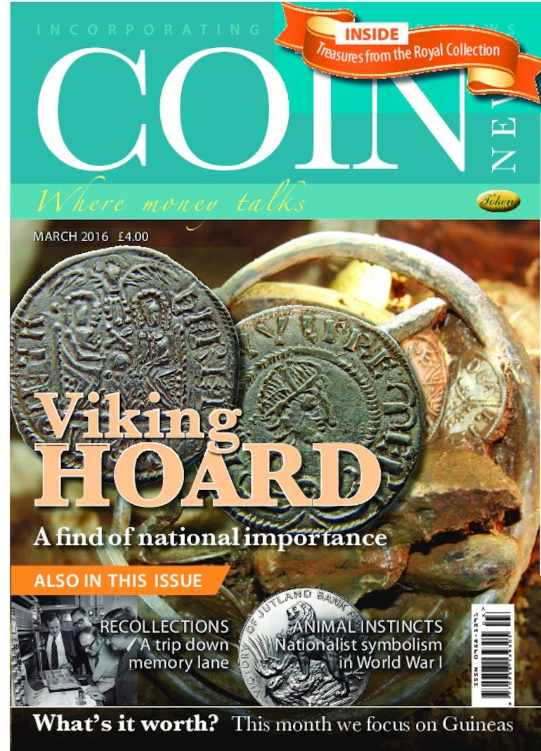 Front cover of 'Viking Hoard', Coin News March 2016, Volume 53, Number 3 by Token Publishing