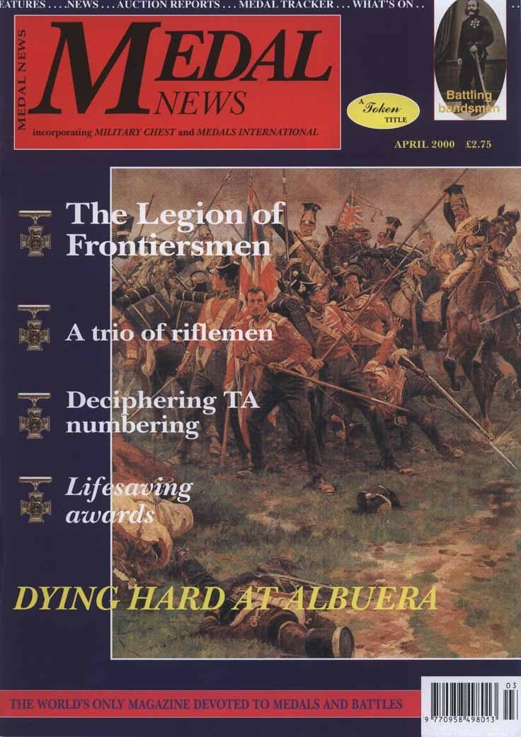 Front cover of 'Honouring the few', Medal News April 2000, Volume 38, Number 4 by Token Publishing