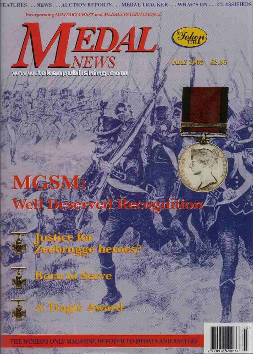 Front cover of 'Due Recognition', Medal News May 2003, Volume 41, Number 5 by Token Publishing