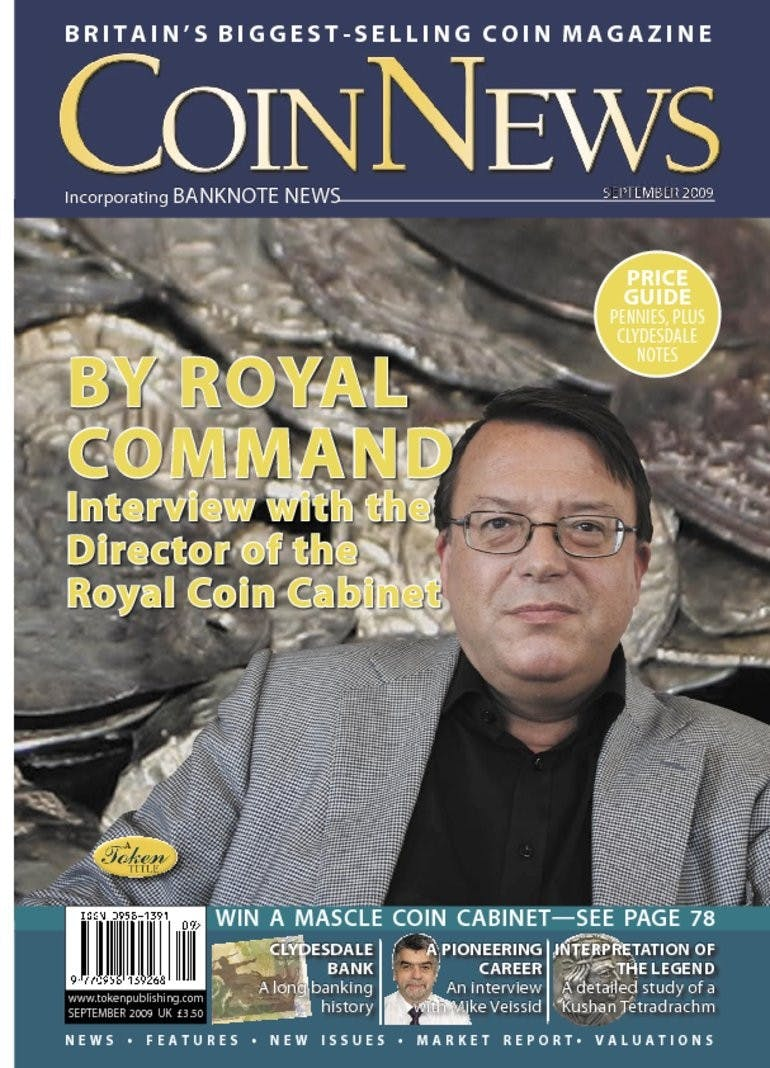 Front cover of 'By Royal Command', Coin News September 2009, Volume 46, Number 9 by Token Publishing