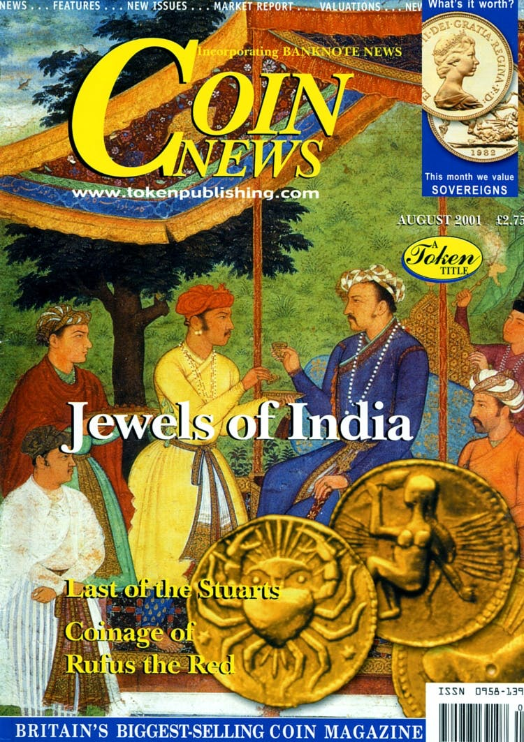 Front cover of 'www.tokenpublishing.com', Coin News August 2001, Volume 38, Number 8 by Token Publishing