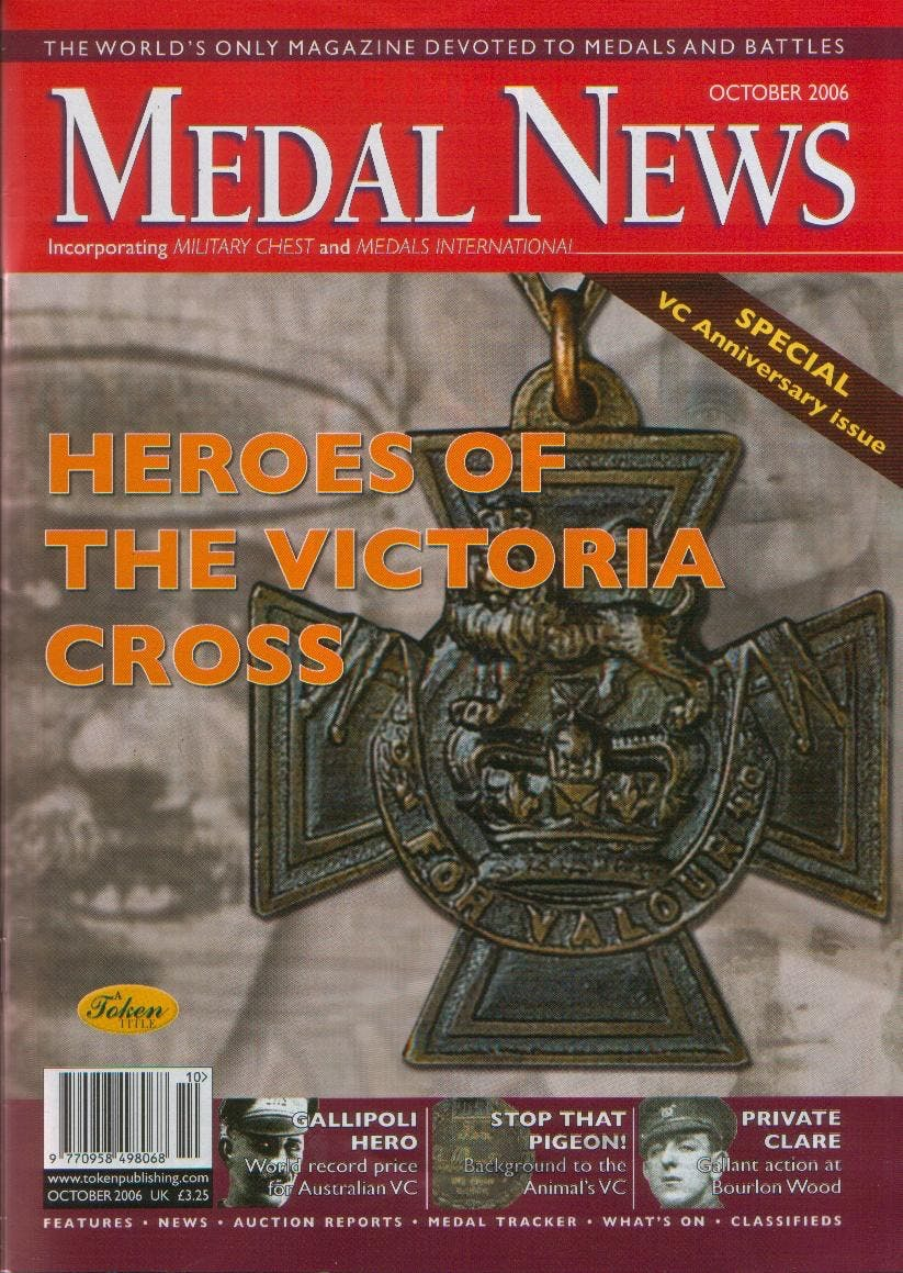 Front cover of '150 years of valour', Medal News October 2006, Volume 44, Number 9 by Token Publishing