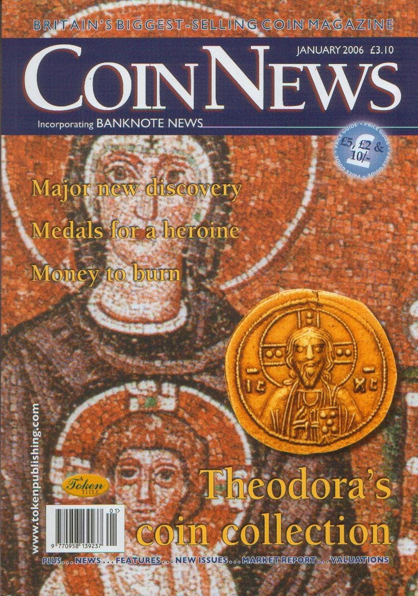 Front cover of 'Looking Back', Coin News January 2006, Volume 43, Number 1 by Token Publishing