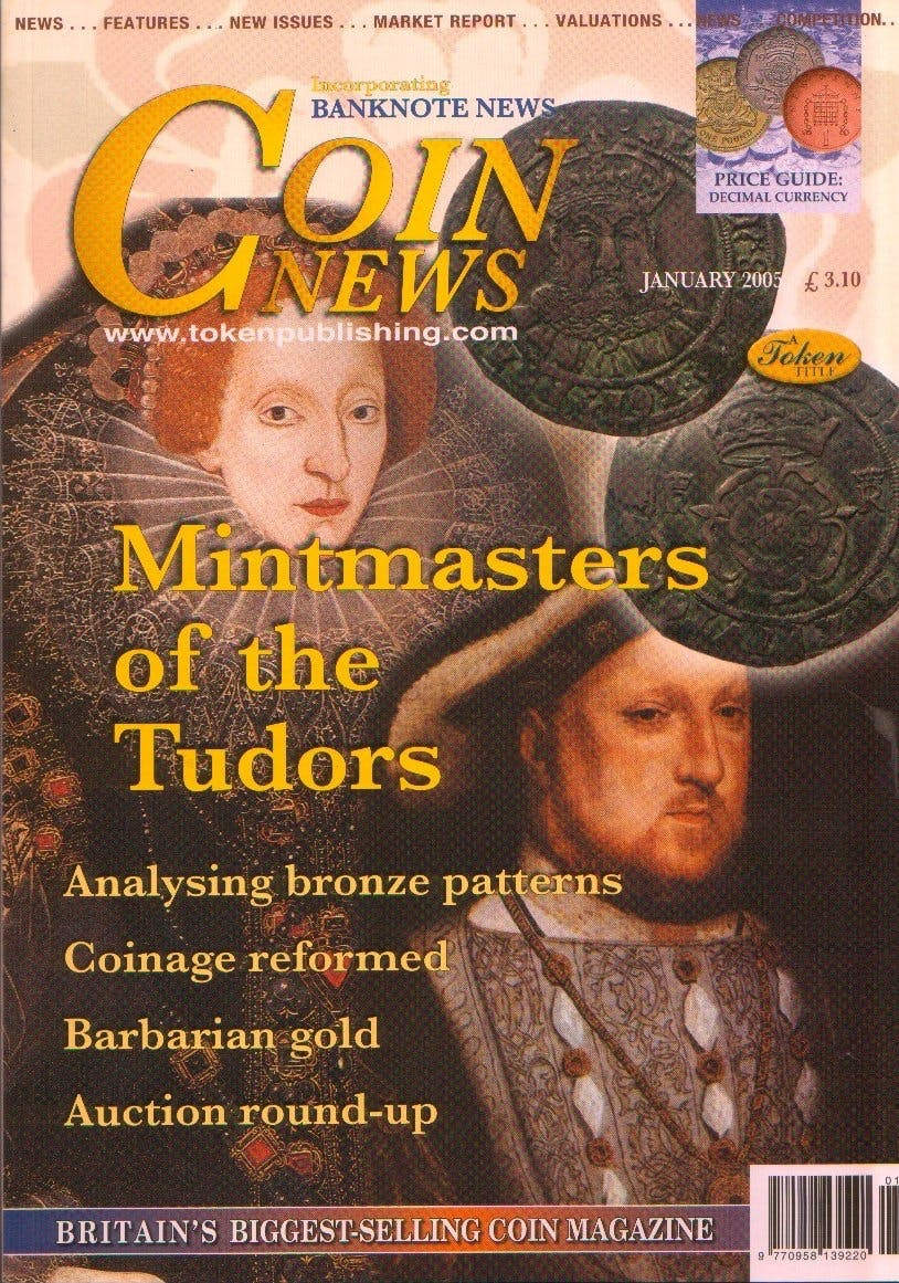 Front cover of 'In for a penny', Coin News January 2005, Volume 42, Number 1 by Token Publishing