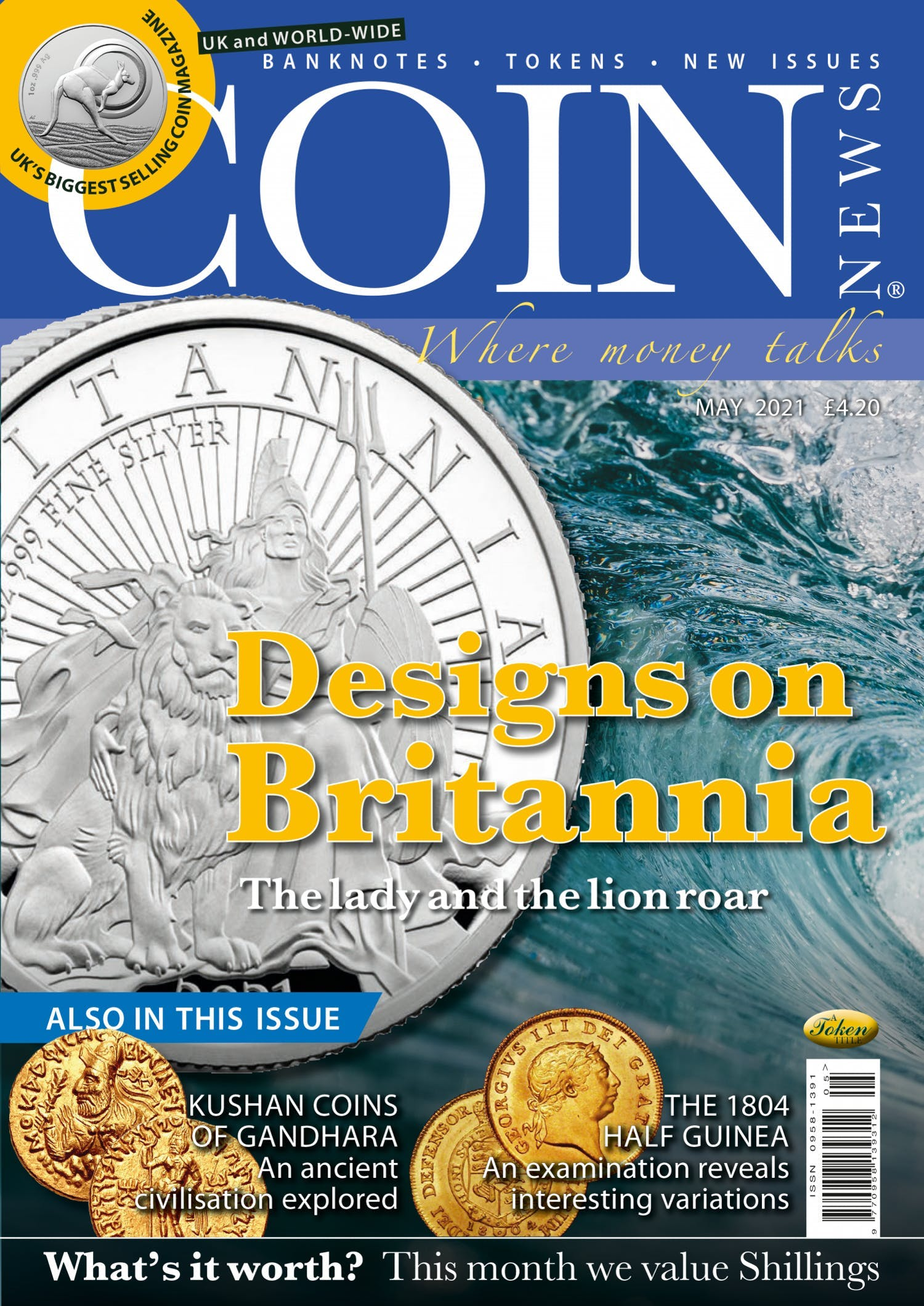The front cover of Coin News, May 2021 - Volume 58, Number 5