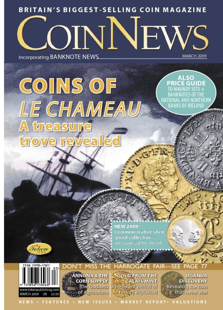 Front cover of 'Coins of Le Chameau', Coin News March 2009, Volume 46, Number 3 by Token Publishing