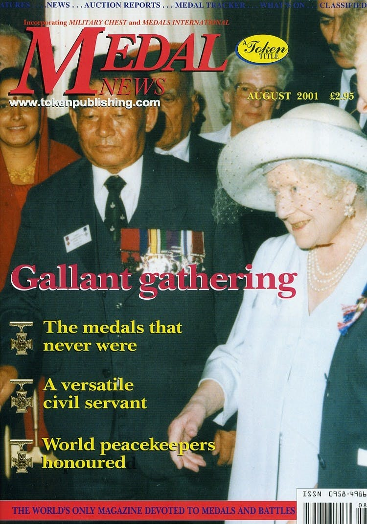 Front cover of 'www.tokenpublishing.com', Medal News August 2001, Volume 39, Number 7 by Token Publishing