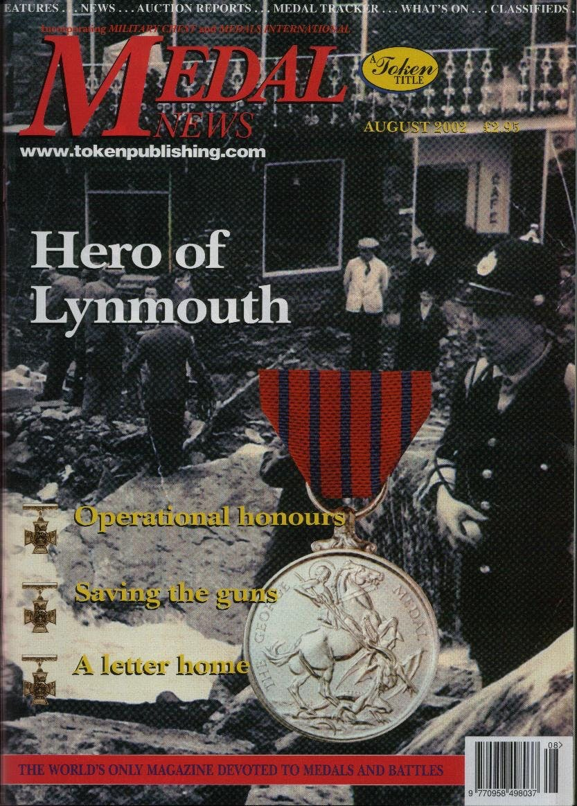 Front cover of 'Forgotten Treasures', Medal News August 2002, Volume 40, Number 7 by Token Publishing