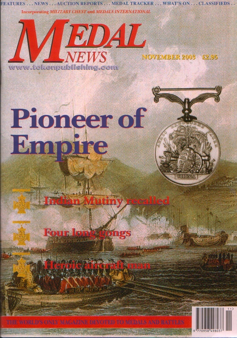 Front cover of 'Paying the price', Medal News November 2003, Volume 41, Number 11 by Token Publishing