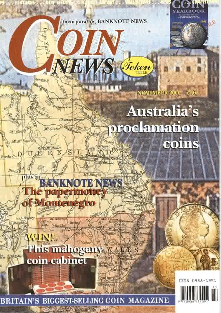 Front cover of 'Helpful choice', Coin News November 2000, Volume 37, Number 11 by Token Publishing