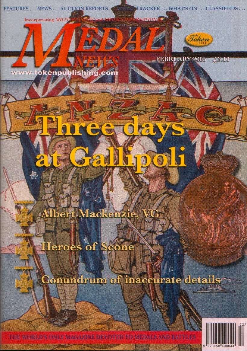 Front cover of 'Don't Miss out', Medal News February 2005, Volume 43, Number 2 by Token Publishing