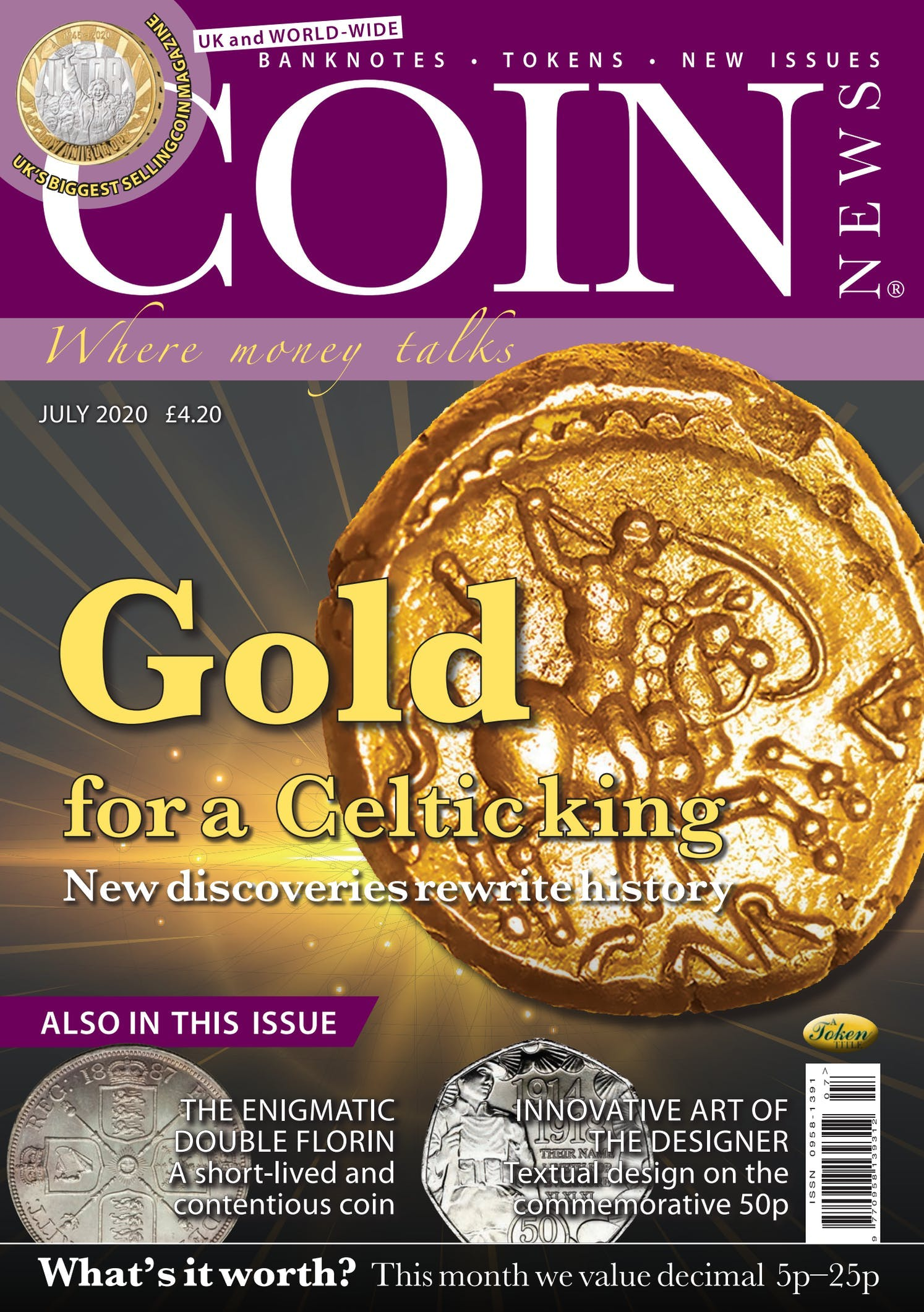 The front cover of Coin News, July 2020 - Volume 57, Number 7