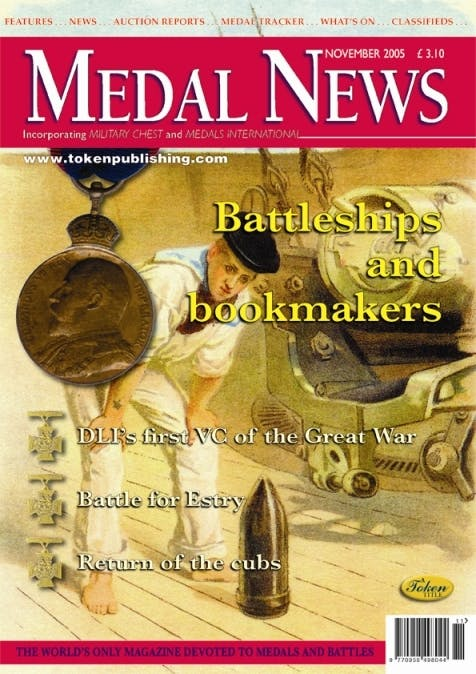 Front cover of 'Remembering them all', Medal News November 2005, Volume 43, Number 11 by Token Publishing