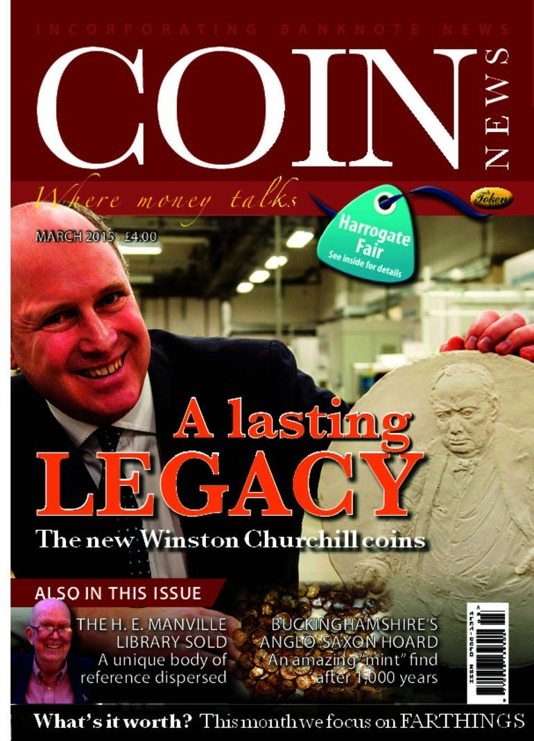 Front cover of 'Lasting Legacy', Coin News March 2015, Volume 52, Number 3 by Token Publishing