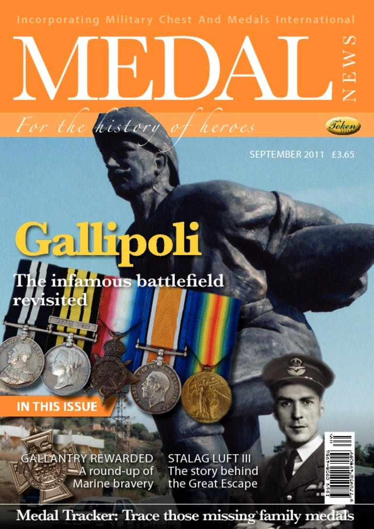 Front cover of 'Gallipoli', Medal News September 2011, Volume 49, Number 8 by Token Publishing