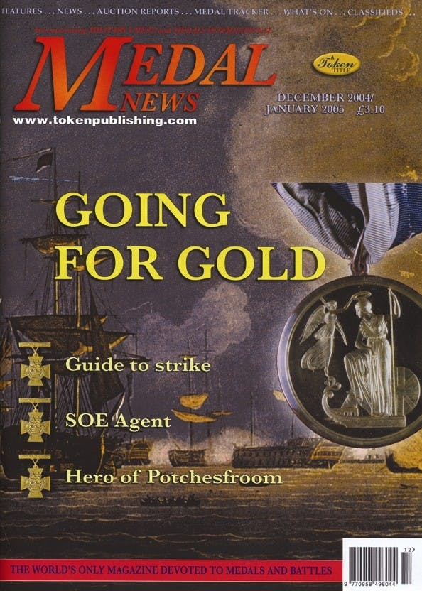 Front cover of 'Naval Gazing', Medal News December 2004, Volume 43, Number 1 by Token Publishing